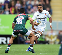 Taulupe Faletau of Bath Rugby in possession. Aviva Premiership match, between Leicester Tigers and Bath Rugby on September 3, 2017 at Welford Road in Leicester, England. Photo by: Patrick Khachfe / Onside Images
