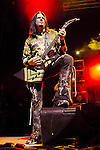 Guitarist JASON HOOK of Five Finger Death Punch performs live at Riverbend Music Center in Cincinnati, Ohio on October 17, 2010.