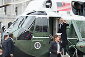 Former United States President Barack Obama waves as he departs the inauguration, on Capitol Hill in Washington, D.C. on January 20, 2017. President-Elect Donald Trump was sworn-in as the 45th President.    <br /> Credit: Kevin Dietsch / Pool via CNP