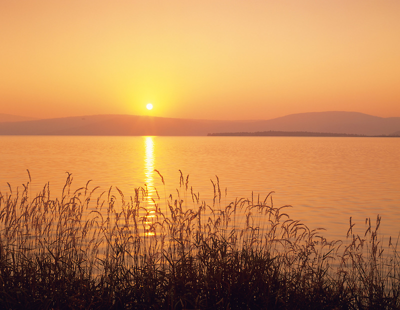 Sunrise reflected in Upper Klamath Lake, Oregon