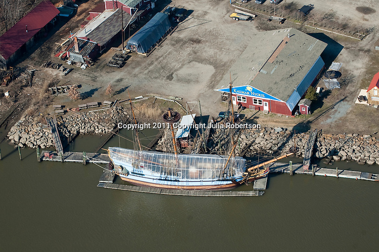 Aerial  VIEWS OF THE Kalmar Nyckel Ship wilmington, Delaware