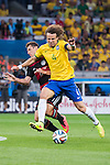 Miroslav Klose (GER), David Luiz (BRA), JULY 8, 2014 - Football / Soccer : FIFA World Cup Brazil 2014 Semi Final match between Brazil 1-7 Germany at Estadio Mineirao in Belo Horizonte, Brazil. (Photo by Maurizio Borsari/AFLO)
