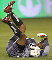 FC Dallas GK Shaka Hislop in action during a MLS match. FC Dallas beat the LA Galaxy 2-1 at the Home Depot Center in Carson, California, Thursday, April 12, 2007.