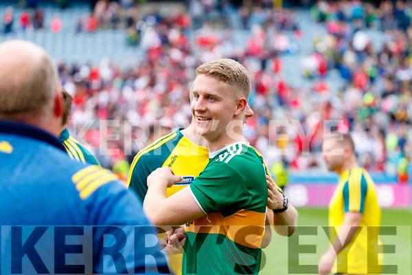 Gavin Crowley, Kerry celebrates after the All Ireland Senior Football Semi Final between Kerry and Tyrone at Croke Park, Dublin on Sunday.