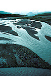 AK: Alaska Denali National Park, Braided Glacier River  .Photo Copyright: Lee Foster, lee@fostertravel.com, www.fostertravel.com, (510) 549-2202.Image: akdena217