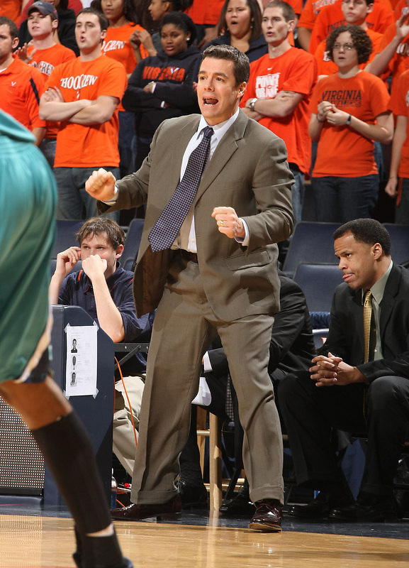 Virginia beat UNC Wilmington 69-67 Monday Jan. 18, 2010 in Charlottesville, Va.  Virginia head coach Tony Bennet (Photo/The Daily Progress/Andrew Shurtleff)