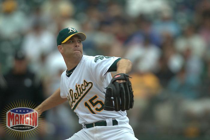 Tim Hudson. Baseball: Texas Rangers vs Oakland Athletics. Oakland, CA 9/24/2003 MANDATORY CREDIT: Brad Mangin