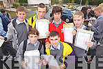 Students from CBS, The Green, Tralee collecting their Junior Cert results on Wednesday, from left: Cian Sheridan, Danny Roche, Kevin Dolan, Kian Molloy, Gary Hanafin and Philip O'Mahony..