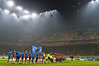 Milan fans and team lines up <br /> Milano 09/02/2020 Stadio San Siro <br /> Football Serie A 2019/2020 <br /> FC Internazionale - AC Milan <br /> Photo Andrea Staccioli / Insidefoto