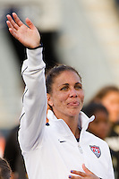 Shannon Boxx (7) of the United States (USA) is introduced prior to playing China PR (CHN). The United States (USA) women defeated China PR (CHN) 4-1 during an international friendly at PPL Park in Chester, PA, on May 27, 2012.