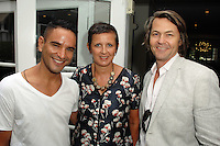 Isaac Joseph, Frances Pennington, Nero Smeraldo==<br /> LAXART 5th Annual Garden Party Presented by Tory Burch==<br /> Private Residence, Beverly Hills, CA==<br /> August 3, 2014==<br /> ©LAXART==<br /> Photo: DAVID CROTTY/Laxart.com==