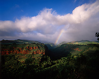 Rainbow over Hanapepe Valley, Kauai, Hawaii, USA.