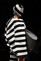 7 September 2017, Melbourne - Model parades design by RMIT student Josh Nien during the Melbourne Fashion Week in Melbourne, Australia. (Photo Sydney Low / asteriskimages.com)