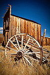 Wagon wheel in California's Bodie