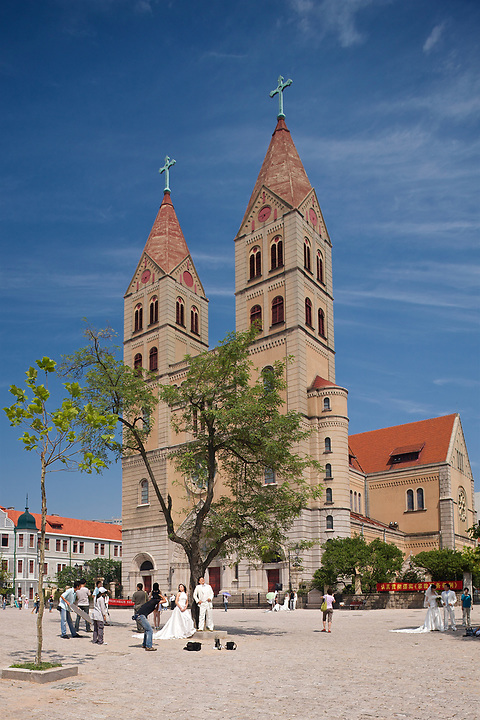 St Michael's Cathedral, Qingdao (Tsingtao).  A Clear Favourite For Wedding Photographs!