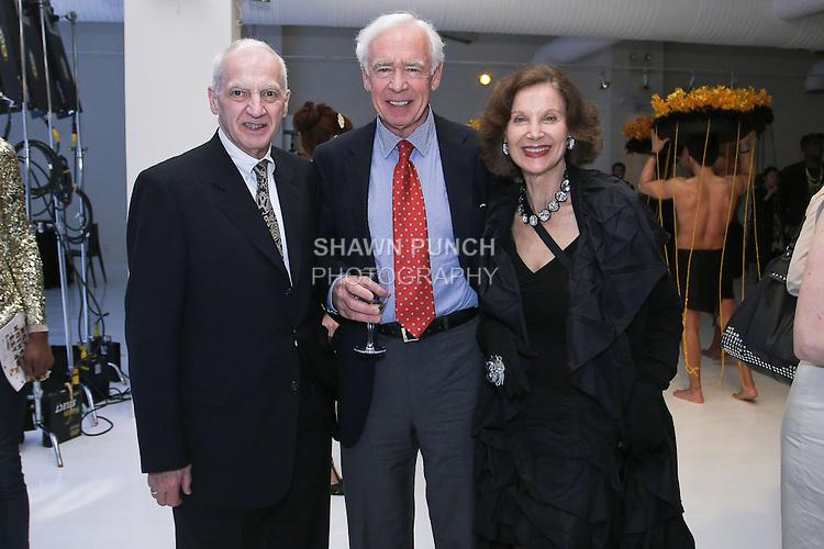 (L-R) Thomas F. Schutte, David Hunt, and Jill Spalding, at the Pratt 2011 fashion show and cocktail reception, honoring Hamish Bowles, April 27 2011.