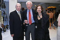 (L-R) Thomas F. Schutte, David Hunt, and Jill Spalding, at the Pratt 2011 fashion show and cocktail reception, honoring Hamish Bowles, April 27 2011.