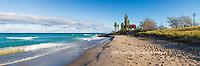 64795-01401 Point Betsie Lighthouse on Lake Michigan, Benzie County, Frankfort, MI