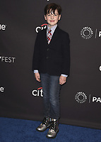 """HOLLYWOOD, CA - MARCH 21:  Iain Armitage at PaleyFest 2018 - """"Young Sheldon"""" at the Dolby Theatre on March 21, 2018 in Hollywood, California. (Photo by Scott KirklandPictureGroup)"""