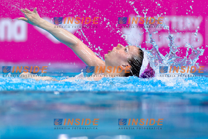 Nea HANNULA FIN Finland<br /> Solo Free<br /> London, Queen Elizabeth II Olympic Park Pool <br /> LEN 2016 European Aquatics Elite Championships <br /> Synchronized Swimming  <br /> Day 01 09-05-2016<br /> Photo Andrea Staccioli/Deepbluemedia/Insidefoto
