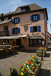 Hotel in Eguisheim in Alsace region, eastern France,