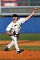 Army pitcher Logan Lee #17 during a game against the Illinois State Redbirds at Chain of Lakes Stadium on March 17, 2012 in Winter Haven, Florida.  Illinois State defeated Army 7-5.  (Mike Janes/Four Seam Images)