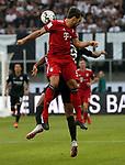 12.08.2018, Commerzbank - Arena, Frankfurt, GER, Supercup, Eintracht Frankfurt vs FC Bayern M&uuml;nchen , <br />DFL REGULATIONS PROHIBIT ANY USE OF PHOTOGRAPHS AS IMAGE SEQUENCES AND/OR QUASI-VIDEO.<br />im Bild<br />Sebastien Haller (Frankfurt), Mats Hummels (M&uuml;nchen)<br /> <br /> Foto &copy; nordphoto / Bratic