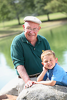 Grandfather With His Grandson At William Mason Regional Park