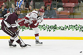 Kevin Lough (Colgate - 4), Ryan Donato (Harvard - 16) - The Harvard University Crimson defeated the visiting Colgate University Raiders 7-4 (EN) on Saturday, February 20, 2016, at Bright-Landry Hockey Center in Boston, Massachusetts,