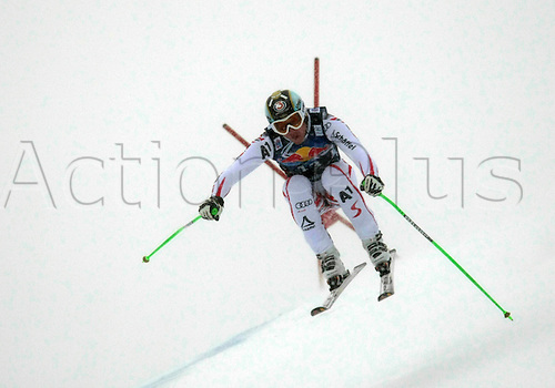 21.01.2012. Kitzbuehel, Austria. Hannes REICHELT (AUT) in action during the Alpine Ski World Cup Hahnenkamm Downhill