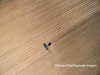 63801-10016 Farmer planting corn-aerial Marion Co. IL