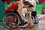 Akira Toyoshima (JPN),<br /> SEPTEMBER 11, 2016 - Wheelchair Basketball : <br /> Preliminary Round Group A<br /> match between Japan - Canada<br /> at Rio Olympic Arena<br /> during the Rio 2016 Paralympic Games in Rio de Janeiro, Brazil.<br /> (Photo by Shingo Ito/AFLO)