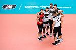 16.09.2019, Lotto Arena, Antwerpen<br />Volleyball, Europameisterschaft, Deutschland (GER) vs. …sterreich / Oesterreich (AUT)<br /><br />Jubel Julian Zenger (#10 GER), Moritz Karlitzek (#14 GER), Simon Hirsch (#13 GER), Marcus Bšhme / Boehme (#8 GER), Jan Zimmermann (#17 GER), Moritz Reichert (#5 GER)<br /><br />  Foto © nordphoto / Kurth