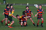 Beachlands Jnr Rugby v Pukekohe, Te Puru Reserve, Auckland, Saturday 27 July 2019. Photo: Simon Watts/www.bwmedia.co.nz