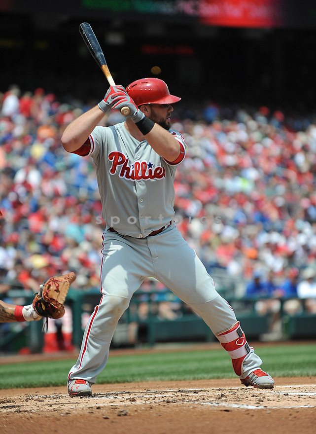 Philadelphia Phillies Peter Bourjos (17) during a game against the Washington Nationals on June 11, 2016 at Nationals Park in Washington, DC. The Nationals beat the Phillies 8-0.