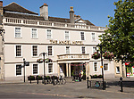 Early eighteenth century architecture, Angel Hotel in the town centre market place of Chippenham, Wiltshire, England, UK
