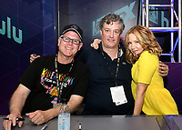FOX FAN FAIR AT SAN DIEGO COMIC-CON© 2019: L-R: THE SIMPSONS Supervising Animation Director Mike Anderson and Executive Producers Al Jean and Stephanie Gillis during the THE SIMPSONS booth signing on Saturday, July 20 at the FOX FAN FAIR AT SAN DIEGO COMIC-CON© 2019. CR: Alan Hess/FOX © 2019 FOX MEDIA LLC