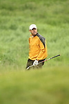 Rich Beem finds trouble on the 17th during the first round of the ISPS Handa Wales Open 2012....31.05.12.©Steve Pope