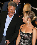 BEVERLY HILLS, CA. - October 30: Actors Dustin Hoffman and Hayden Panettiere arrive at the Blackberry Bold launch party at a private residence on October 30, 2008 in Beverly Hills, California.