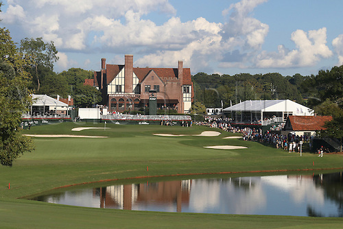 23.09.2016. Atlanta, Georgia, USA.  A scenic view of the clubhouse and the 18th green during the second round of the 2016 PGA Tour Championship at East Lake Golf Club in Atlanta, Georgia.