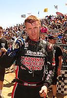 Apr 17, 2011; Surprise, AZ USA; LOORRS driver John Fitzgerald after winning round 4 at Speedworld Off Road Park. Mandatory Credit: Mark J. Rebilas-