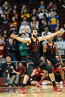 Los Angeles, CA - Sunday, January 6, 2019:  Stanford Men's Basketball at USC.  USC defeated Stanford, 77 - 66.