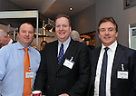 IHF- REPRO FREE HOTELIERS CONFERENCE KILLARNEY: .Andrew O'Neill, Choice Hotel Group, Sean lally, The Strand Hotel, Limerick and Stephen Hanley, The Shelbourne Hotel  pictured at the IHF conference in The Malton Hotel, Killarney on Monday..Picture by Don MacMonagle..PR photo IHF