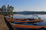 View of the boating area at Rangeley Lake State Park, Maine, USA.