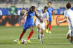 CHESTER, PA - MARCH 01: Grace Geyoro (FRA) (20) and Rachel Williams (ENG) (23). The England Women's National Team played the France Women's National Team as part of the She Believes Cup on March, 1, 2017, at Talen Engery Stadium in Chester, PA. The France won the game 2-1.