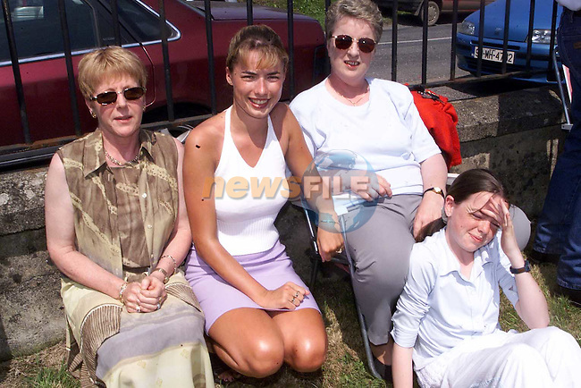 Kathleen Vaughey, Kathleen Gallagher, Sabrina gallagher and Lorraine Gallagher at the blessing of the graves in Duleek on Sunday..Picture Paul Mohan Newsfile