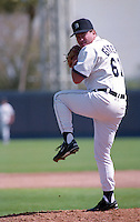 Detroit Tigers pitcher Mark Grater (61) during Spring Training 1993 at Joker Marchant Stadium in Lakeland, Florida.  (MJA/Four Seam Images)