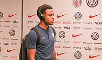 WASHINGTON D.C. - OCTOBER 11: Weston McKennie #8 of the United States walks off the team bus prior to their Nations League game versus Cuba at Audi Field, on October 11, 2019 in Washington D.C.