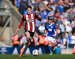 David Brooks of Sheffield Utd during the championship match at St Andrews Stadium, Birmingham. Picture date 21st April 2018. Picture credit should read: Simon Bellis/Sportimage