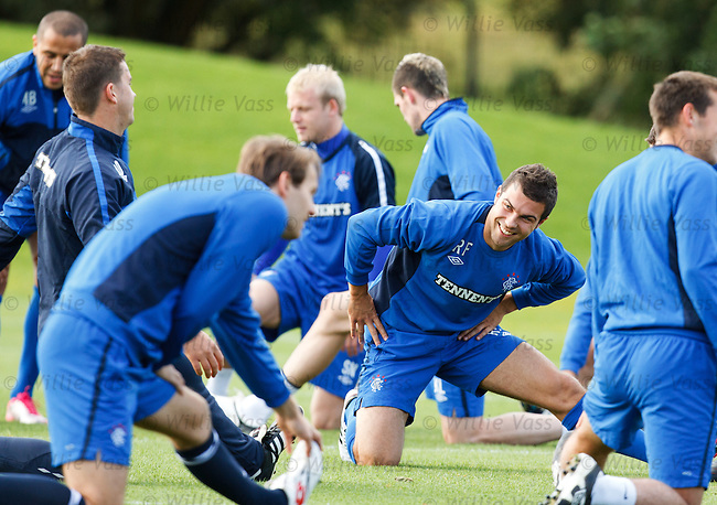 Ricky Foster happy at training even though he can't face Aberdeen on Sunday